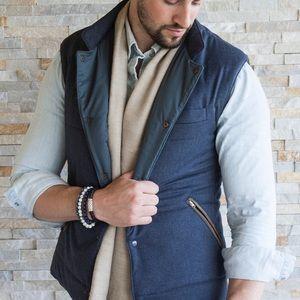 Cucinelli Like  (inspired) quilted wool vest